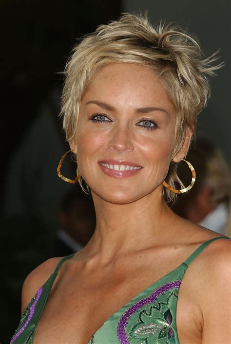 50 year old looking for a new hair do for fine curly thin hair with a square shape face more pics of sharon stone pixie 4 of 21 pixie lookbook