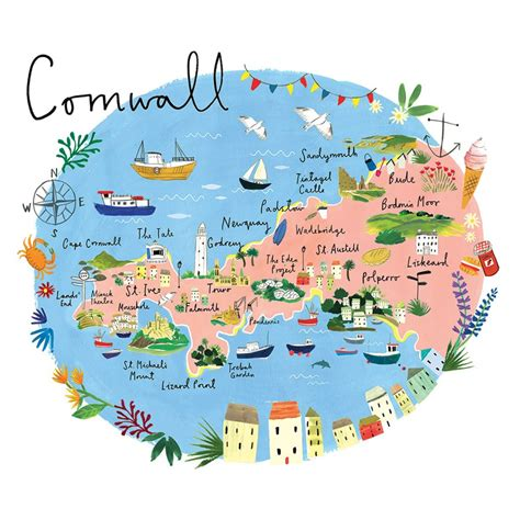cornwall map things to do in cornwall around kernow holidays