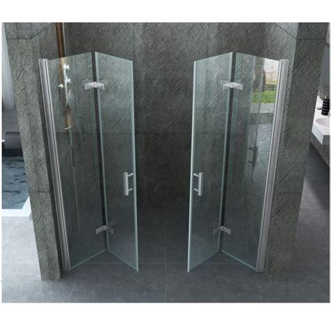 porte doccia a libro porta doccia doppia a libro cristallo trasparente 8mm con