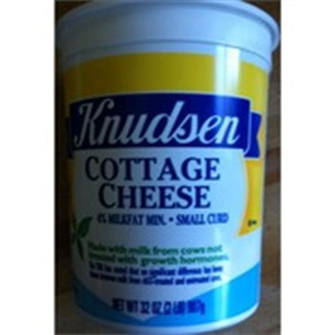 knudsen cottage cheese small curd calories nutrition