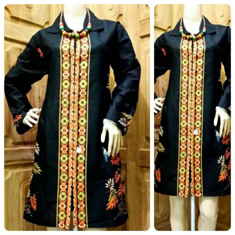 Tunik Batik Ayunda Dress Batik jual tunik batik motif bambu dress batik blus
