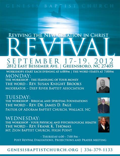 flyer template holy revival church genesis baptist church revival promotional flyers by