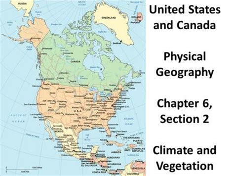 usa and canada physical features map chapter 4 the united states and canada physical geography