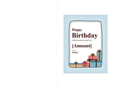 Download Birthday Gift Certificate Template For Microsoft Office 2003 2007 2010 2013 2016 Templates Birthday Card Template Publisher 2013