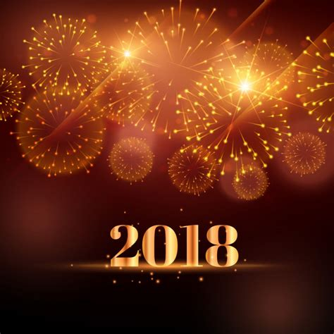 new year background free vector happy new year fireworks background for 2018 vector free