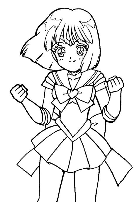 super sailor saturn coloring page 2 by sailortwilight on