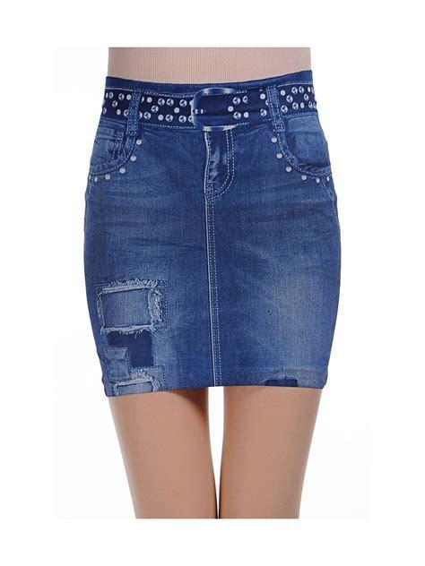 Ripped Denim Mini Skirt fashionable blue ripped denim mini skirt e78423 cilory
