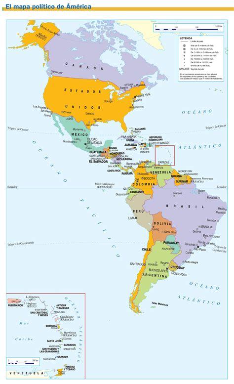 mapa de america paises mapa de paises del mundo