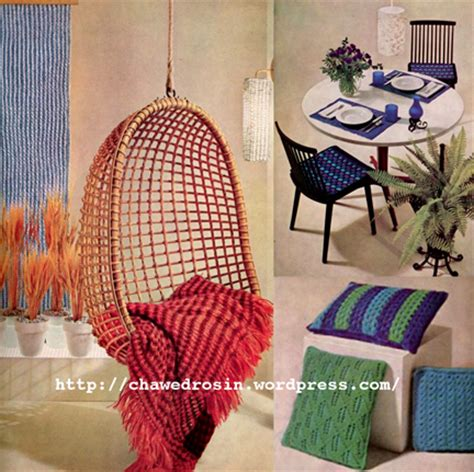 the vintage pattern files 1960 s knitting home decor