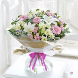 birthday bouquet happy birthday country garden handtied bouquet of flowers available in 3 sizes plantwise