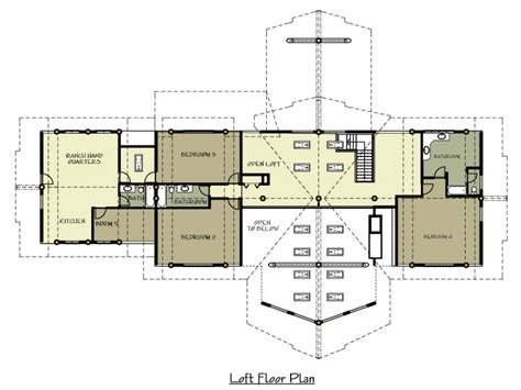 ranch house floor plan 1 story log home plans ranch log home floor plans with