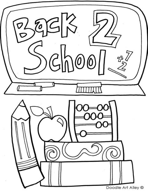 free printable coloring sheets back to school school