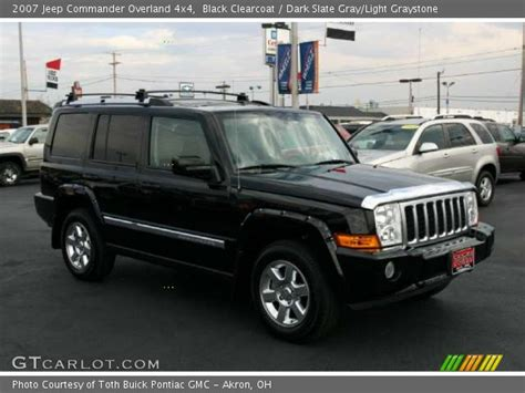 2007 Black Jeep Commander Black Clearcoat 2007 Jeep Commander Overland 4x4