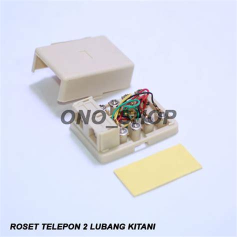 Roset Telepon 1 Lubang Kitani jual roset telepon 2 lubang kitani di lapak suryono ono shop