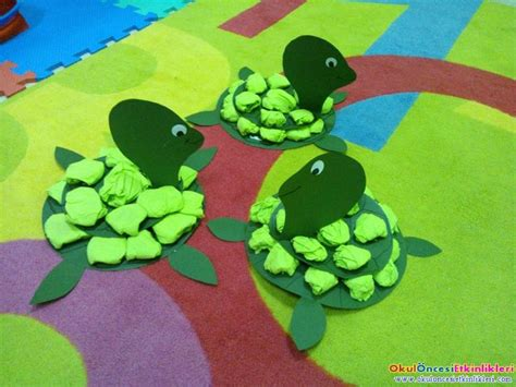 Paper Turtle Craft - crafts actvities and worksheets for preschool toddler and