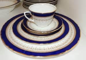 pr007 set of 12 royal worcester regency royal blue fine