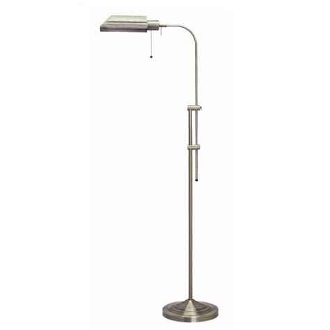 Pharmacy Floor L Cal Lighting Pharmacy Floor L With Brushed Steel Shade L Brilliant Source Lighting