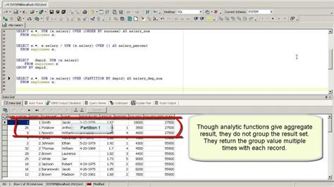 tutorial oracle youtube oracle partition by clause oracle analytic functions