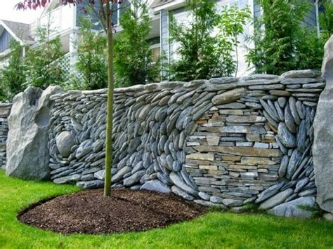 Decorative Garden Fence Panels And Walls With Natural Stone Garden Wall Fencing