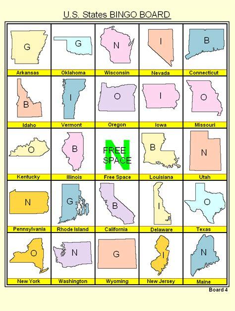 printable bingo board games best photos of us bingo cards united states bingo