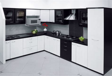 Black And White Kitchen Cabinet Designs by Soft And Sweet Vanila Kitchen Design Stylehomes Net