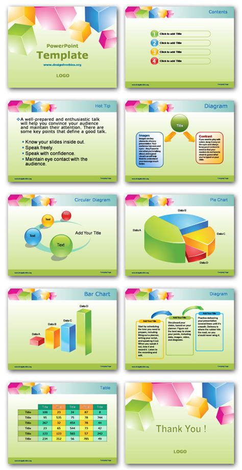 free powerpoint template preview all pages http www