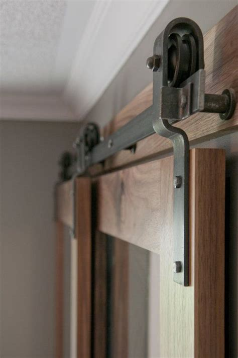 Closet Door Rail Barn Door Hardware Bypass Doors On A Single Rail This Would Work To Replace The Closet Doors
