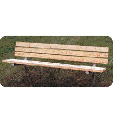 stationary bench pine treated slat stationary bench