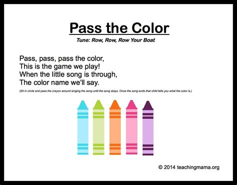 the song colors 10 preschool songs about colors preschool anything