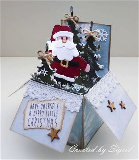 pop up card box template christmas rubber room ramblings adorable cards in a box
