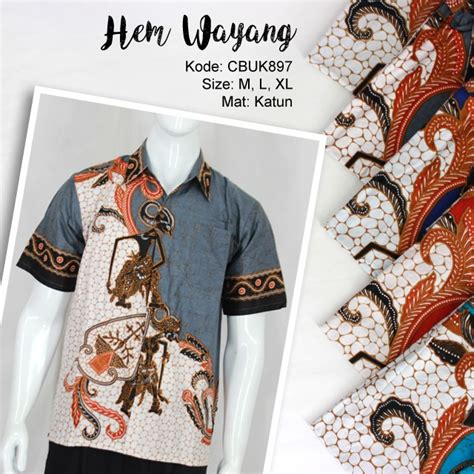 Gamis Batik Wayang Gunungan kemeja batik wayang kemeja lengan pendek murah batikunik