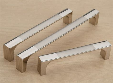 Kitchen Cabinet Door Handles stain nickel kitchen fitting pull knob drawer and furniture cabinet door handles c c 96mm l