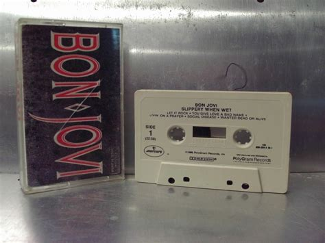 Bon Jovi 32 bon jovi slippery when cassette a1 32