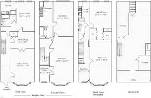 Duplex Row House Floor Plans Rowhouse Floor Plans Find House Plans