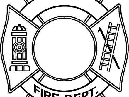 firefighter badge coloring page firefighter badge