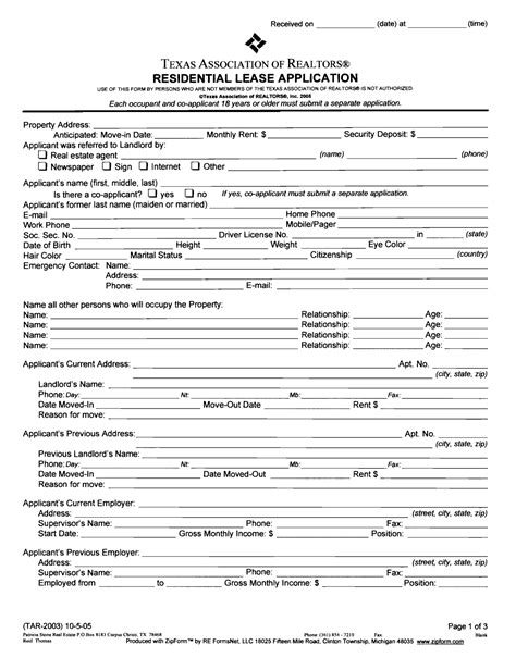 printable residential lease agreement texas best photos of blank residential lease agreement forms