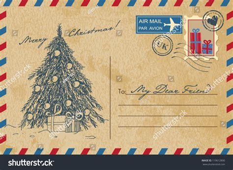 vintage christmas postcard stock vector  shutterstock