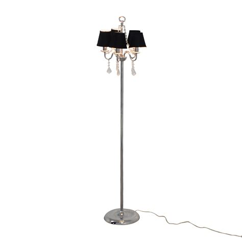 Black Chandelier Floor L 61 Black Chandelier Floor L With Crystals Decor