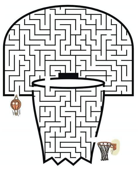maze worksheet basketball maze worksheets 171 preschool and homeschool