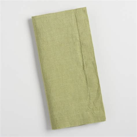 Green Linen Napkins Set Of 4 Market