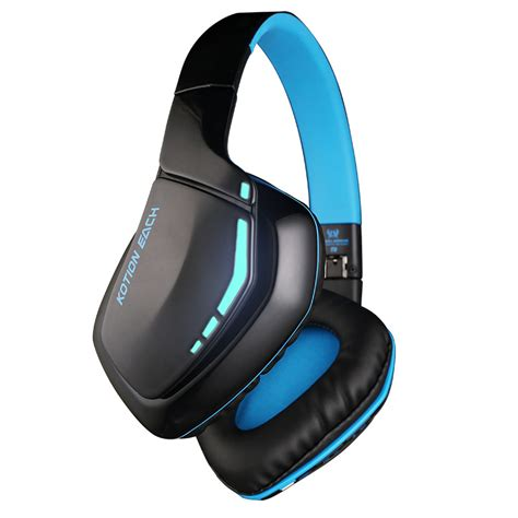 Kotion Each 2 In 1 Bluetooth Wireless Gaming Headset Bass B3505 kotion each b3506 wireless bluetooth headset foldable gaming cuffie stereo headphone with mic