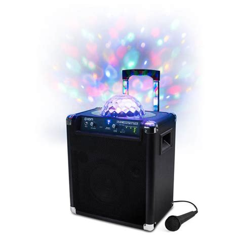 speakers with lights ion block party live portable speaker with led light show