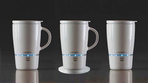 heated coffee mug nano tech wireless heated mug will keep your coffee