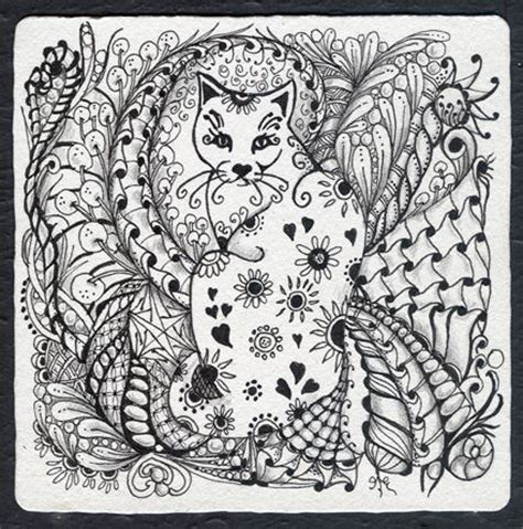 cat doodles pen 316 best zentangle images on mandalas doodle
