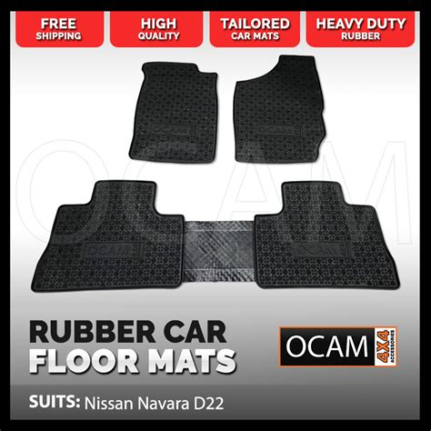 brand new tailored rubber floor mats for nissan navara d22