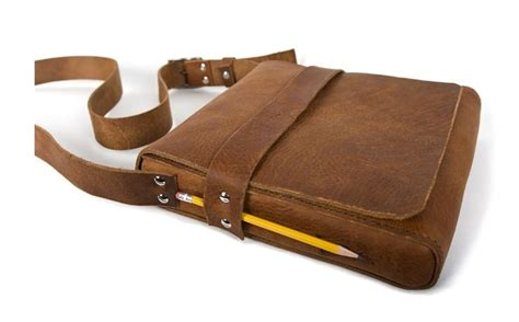 Handmade Leather Pencil - cambria handmade leather tablet messenger bag gt smart