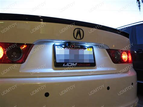lip shaped license plate frame direct fit acura tsx tl honda accord civic led license