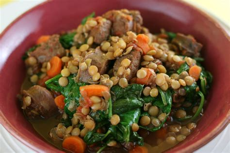 lentil and sausage crock pot sausage and lentil stew cooker recipe a year of