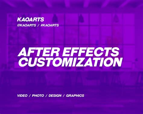 templates after effects envato professional after effects customization by kaoarts on