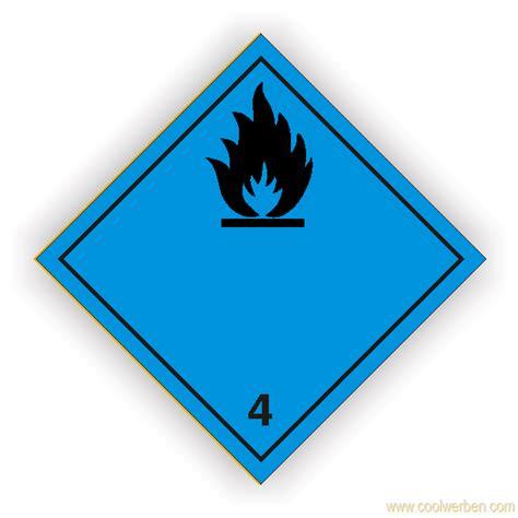 Aufkleber Drucken 1000 St Ck by Gefahrzettel Klasse 4 3 In Ber 252 Hrung Mit Wasser